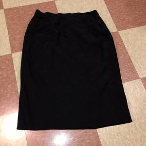 Vtg 90s rayon blend pencil skirt black md